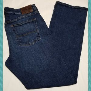Lucky Brand Dark Wash 181 Relaxed Straight Jeans
